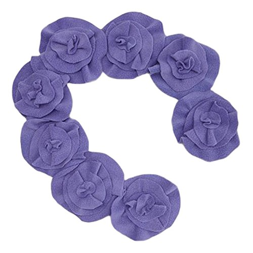 Little Miss Fashion Girls Purple Rosette Scarf by Little Miss Fashion (Image #1)