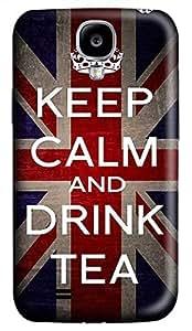 Samsung Galaxy S4 I9500 Hard Case - Keep Calm Drink Tea Galaxy S4 Cases