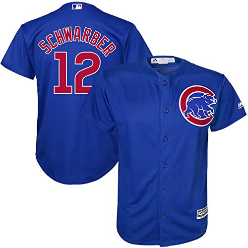 Bryant Youth Replica White Jersey (Kyle Schwarber #12 Chicago Cubs Youth Alternate Cool Base Replica Jersey (Youth Large 14/16))