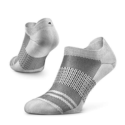 Rockay Agile Ultralight Running Socks for Men and Women, Thin, Ankle Cut, Arch Support, 100% Recycled, Anti-Odor (1 Pair)