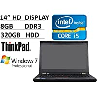 2016 Lenovo Thinkpad T430 14-inch Premium Business Laptop PC (Intel Dual Core i5 Processor up to 3.3GHz, 8GB RAM, 320GB HDD 7200rpm, WLAN, Webcam, DVD, USB 3.0, Windows 7 Pro) (Certified Refurbished)