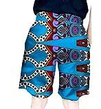 Highisa Men Dashiki African Print Baggy Bechwear Plus Size Fashion Shorts Six M