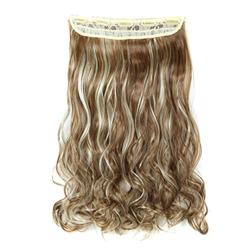 [Wigs, Hatop 5Pcs Clip False Hair Synthetic Hair Extension Curly Heat Resistant Hair (H)] (1940s Dance Costumes)