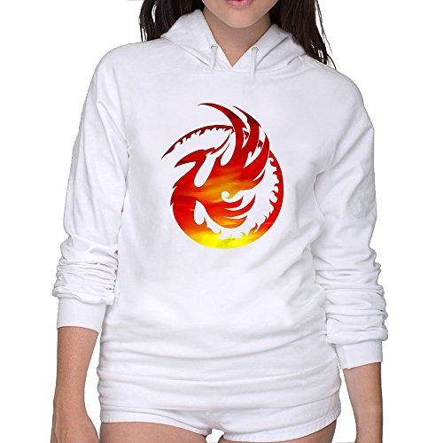 Sweatshirts 90s Phoenix Logo Casual Hoodies Tshirt Morden Lady