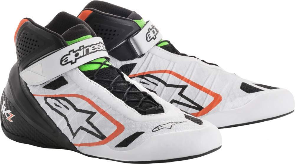 alpinestars(アルパインスターズ) TECH 1-KZ KART SHOES WHITE BLACK ORANGE FLUO/GREEN FLUO 12.5 2713018-2146-12.5 B078B8Q8XD