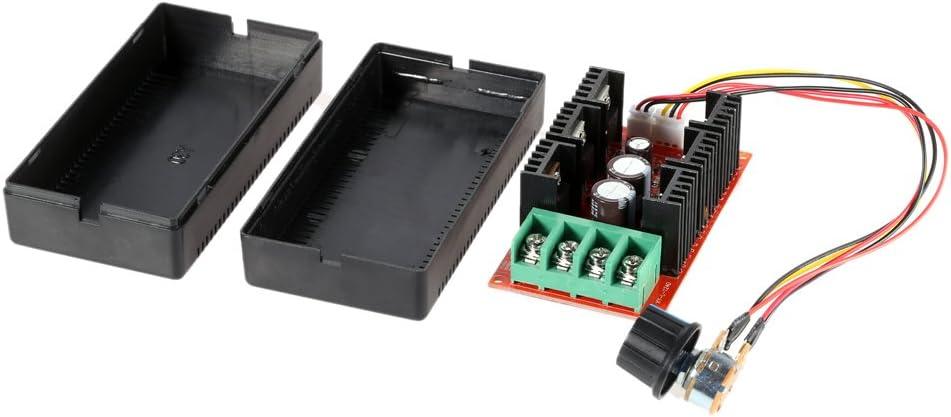 KKmoon 10-50V / 40A / 2000W DC Controlador de velocidad del motor PWM HHO RC Controlador 12V 24V 36V 40V 50V Controlador de velocidad