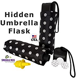 Umbrella 9 oz Flask w/ Lid Seals & Speed Pourer