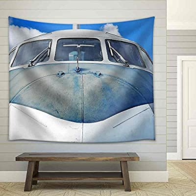 Wonderful Handicraft, Professional Creation, Aircraft Against Blue Sky Close Up Fabric Wall