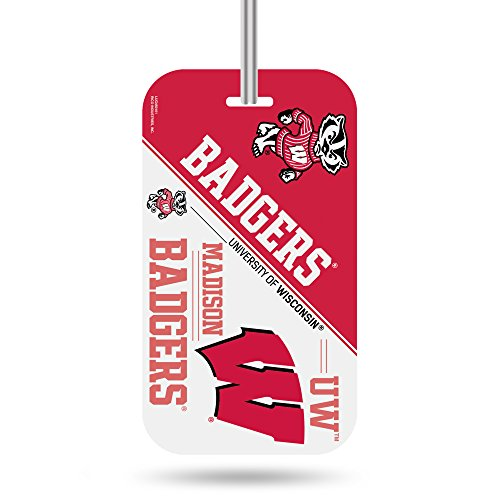 NCAA Wisconsin Badgers  Crystal View Team Luggage Tag, Red, 7.5-inches by 3-inches by 0.5-inch (Badgers Crystal Wisconsin)