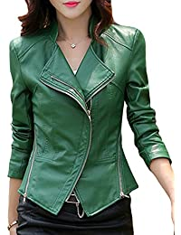 Amazon Com Greens Leather Faux Leather Coats Jackets Vests