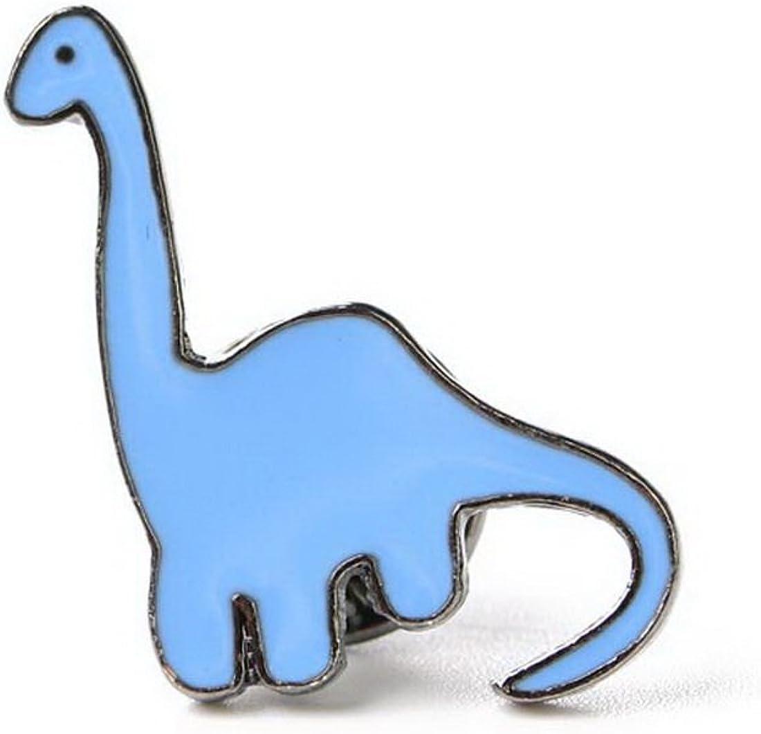 MJARTORIA Enfant Broche Badge Bouton /Écharpe Symbole Dinosaure Mignon Bleu