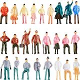 100 Pieces People Figurines 1:75 Scale Model Trains Architectural Plastic People Figures Tiny People Sitting and Standing for Miniature Scenes