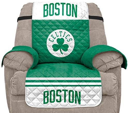 Pegasus Sports NBA Boston Celtics Unisex Nbanba Furniture Protector with Elastic Straps, Green, - Team Nba Home Recliner