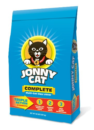 Jonny Cat Complete Multi-Cat Clay Litter Bag, 20-Pound (Cats 20 Lb Bag)
