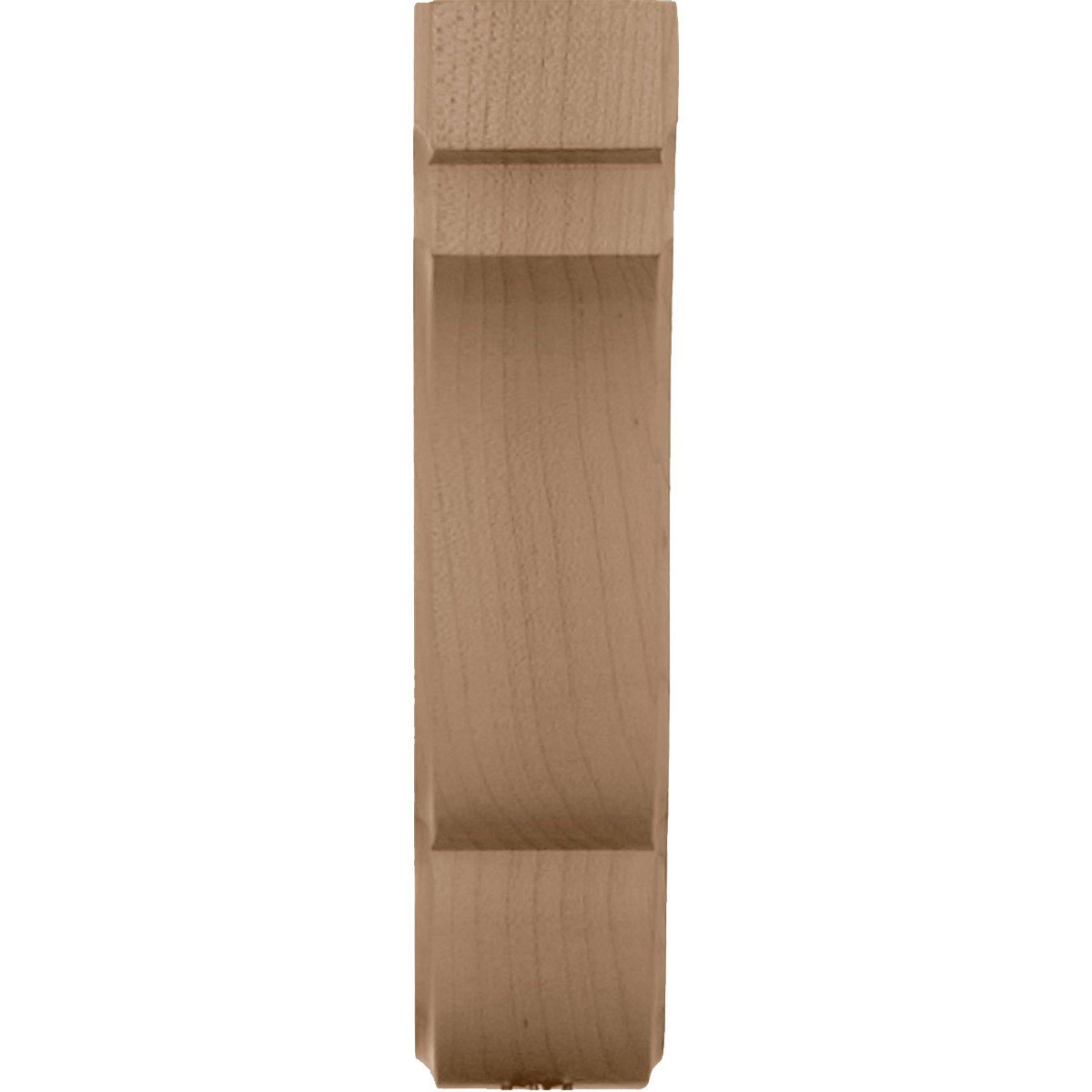 Ekena Millwork BKTW05X09X11BEWA  5 1//4-Inch W by 8 1//2-Inch D by 11-Inch H Bedford Bracket Walnut