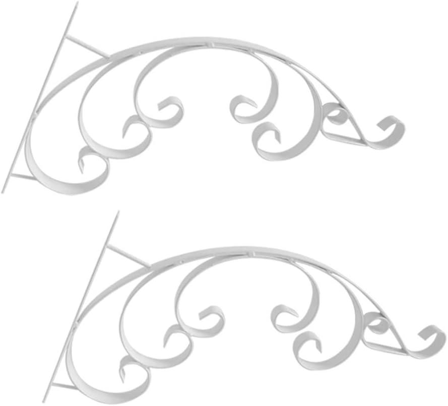 GETZ MSYO brackets Blumenampelhalter f/ür Wand Pflanze Wandhalterung H/ängende Gartenbehang Haken f/ür Vogelh/äuschen K/örbe Windspiele Indoor Outdoor Dekorative Vintage Look Kleiderb/ügel 2 ST/ÜCKE