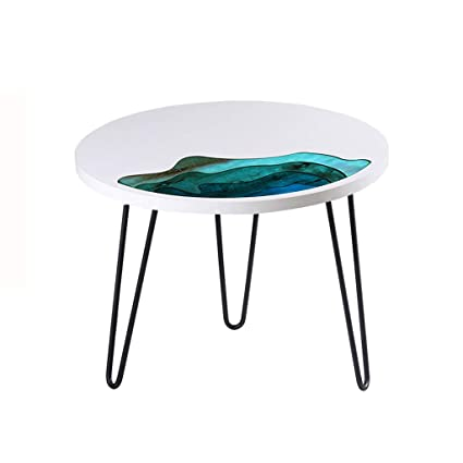 Amazoncom Dty Cabinet Household Solid Wood Coffee Table Round