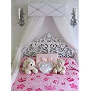 Gray white Bed Crib Canopy FREE white curtains Ballet Ballerina custom made SALE So Zoey Boutique designs