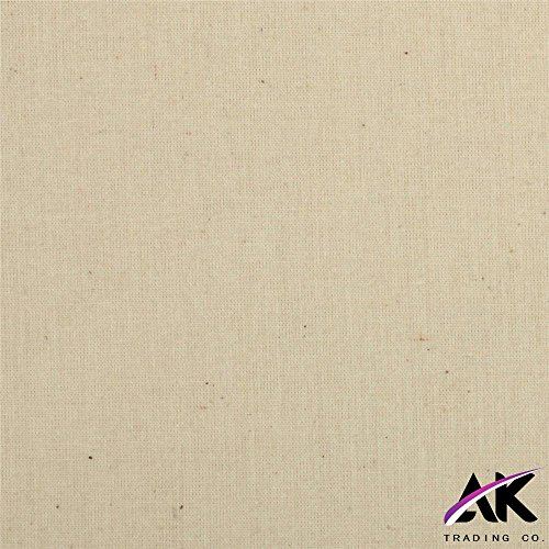 AK Trading 60'' Wide Natural Muslin Fabric, 100% Cotton Fabric, Unbleached 100 Yards by AK TRADING CO. (Image #2)