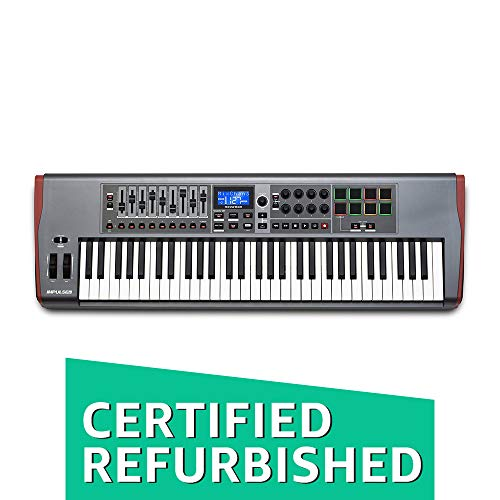 Novation Impulse 61 USB Midi Controller Keyboard, 61 Keys (Certified Refurbished)