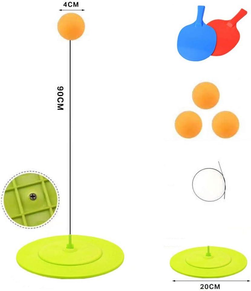 LYX Mesa de Ping Pong Rebote Trainer Raqueta de Tenis de Mesa Equipo de Entrenamiento del Robot Rebote del Eje rápido Retorno Kit Cesta Adultos niños Mesa de Ping Pong Entrenador Fijo
