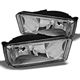 2007-2013 Chevy Silverado Suburban Tahoe Avalanche Bumper Clear Fog Lights w/Bulbs Replacement
