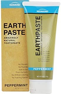 product image for Redmond Earthpaste - Natural Non-Fluoride Toothpaste, 4 Ounce Tube (6 Pack, Peppermint)