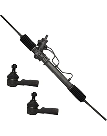 Detroit Axle Complete Power Steering Rack & Pinion Assembly + All 4 Inner & Outer Tie