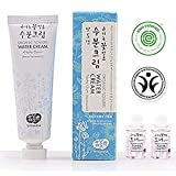 Whamisa Organic Flowers Water Cream Natto Gum 50ml - Naturally Fermented, EWG Verified