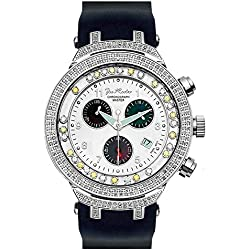 Joe Rodeo JJMS2(WY) Master Man Diamond Watch, White Dial with Black Band