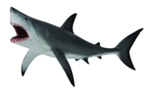 CollectA Sea Life Great White Shark, Open Jaw Toy Figure - Authentic Hand Painted Model