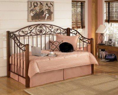 Elegant Signature Design By Ashley B429 80 Wyatt Collection Day Bed Frame, Reddish  Brown