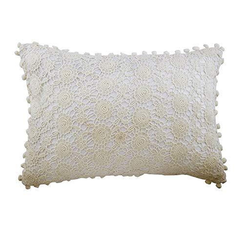 The HomeCentric Blanco marfil Fundas para Cojines 30 x 40 cm ...