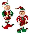 "Kurt Adler 12"" Stuffed Elf Christmas Ornament 2"