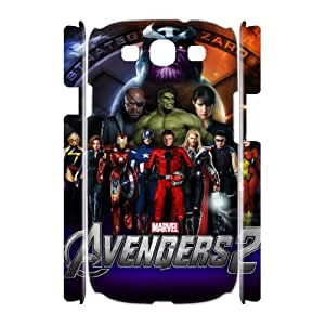 Classic Case The Avengers pattern design For Samsung Galaxy S3 I9300(3D) Phone Case