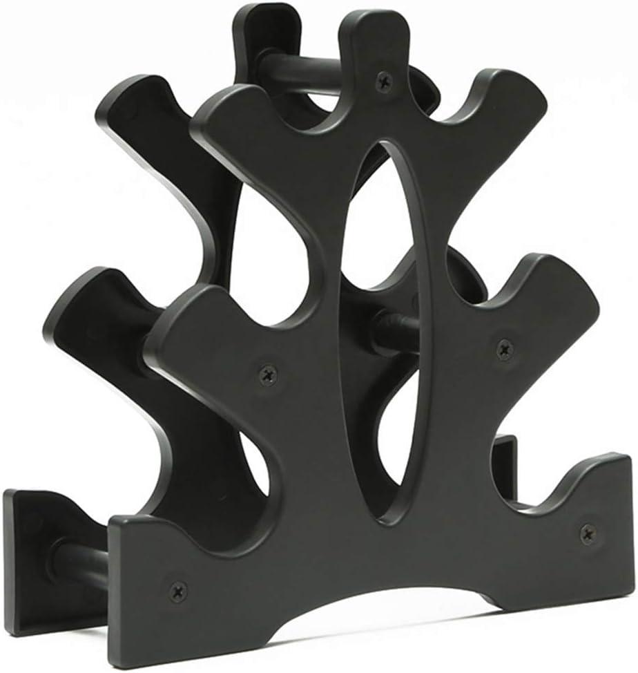 Ryoizen Soporte para mancuernas de 3 niveles con dise/ño de tri/ángulo y hojas grandes soporte para mancuernas para el hogar y el gimnasio