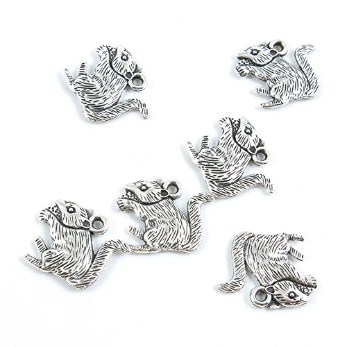 10 Pieces Antique Silver Jewelry Making Supply Charms Findings D3SC5 Mouse ()