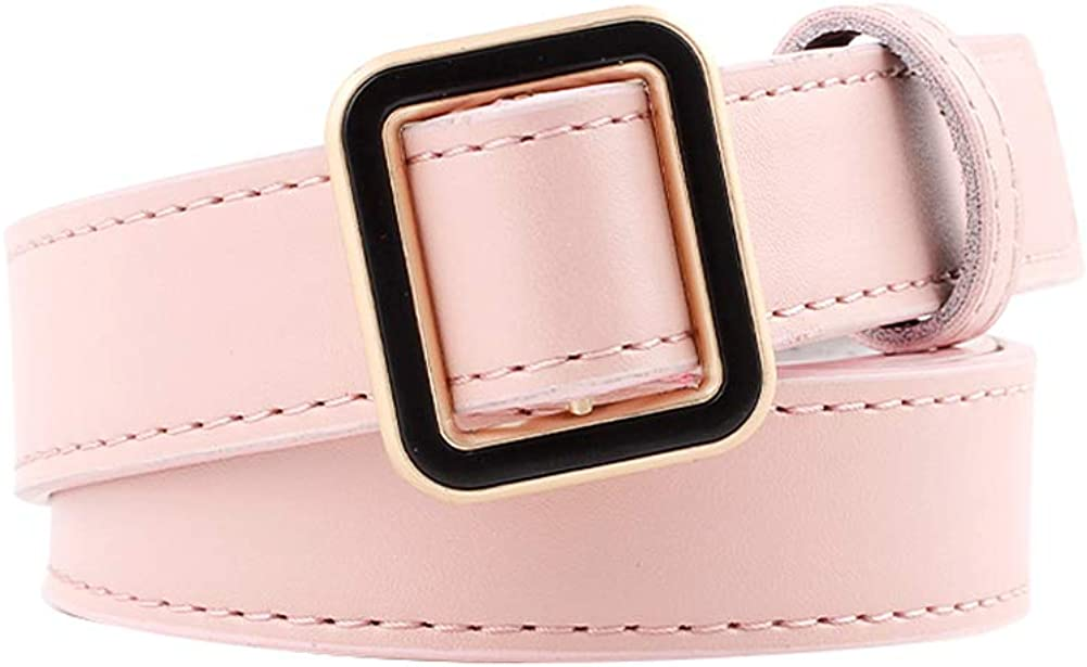 Fashion Women Leather Belt Casual Solid Color Long Belt for Dress Jeans Clothes Accessories