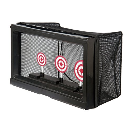 BBTac Airsoft Target with Auto-Reset, Stand, Trap Net Catcher, for Airsoft Gun Shooting BB Pellets Indoor (Tokyo Marui Tracer)