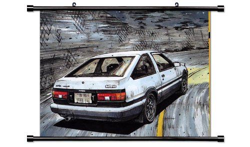 Initial D Anime Fabric Wall Scroll Poster (32 x 24) Inches.[WP]-Init-8 (L) (Initial D Scroll Wall)