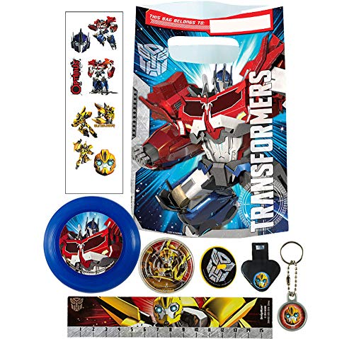 Party City Transformers Basic Favor Supplies for 8 Guests, Include Plastic Favor Bags and a Complete Party Favor Pack