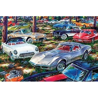 TDC Games World's Smallest Jigsaw Puzzle - Corvette Dreams: Toys & Games