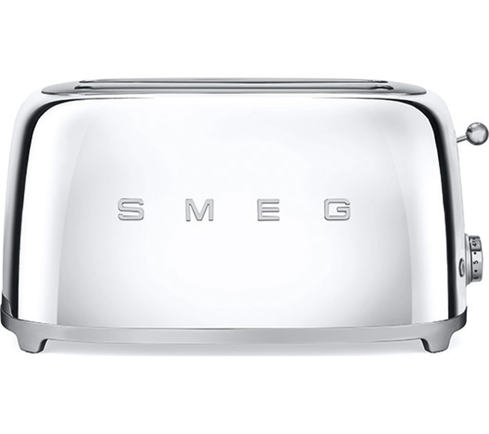 Smeg TSF02SSUK Retro Polished Stainless Steel 4 Slice Toaster