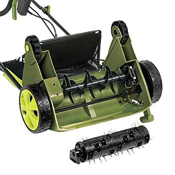 "Sun Joe Aj801e 12 Amp 12.6"" Electric Scarifier Plus Lawn Dethatcher With Collection Bag 4"