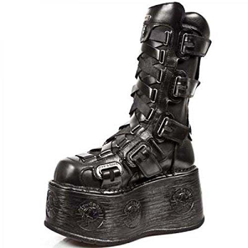 New Rock Støvler M.189-s1 Gotisk Hardrock Punk Unisex Stiefel Sort 9lwOc4uZ