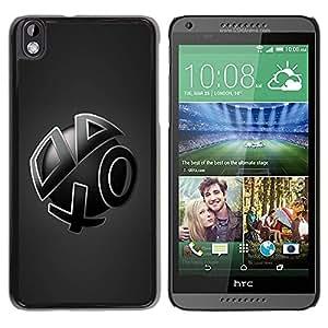Caucho caso de Shell duro de la cubierta de accesorios de protección BY RAYDREAMMM - HTC DESIRE 816 - Abstract Shapes