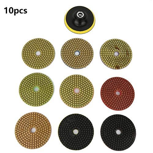 Fictor 10個入りラウンドダイヤモンド研削カップ砥石グラインダーディスクツールセットの直径100ミリメートル