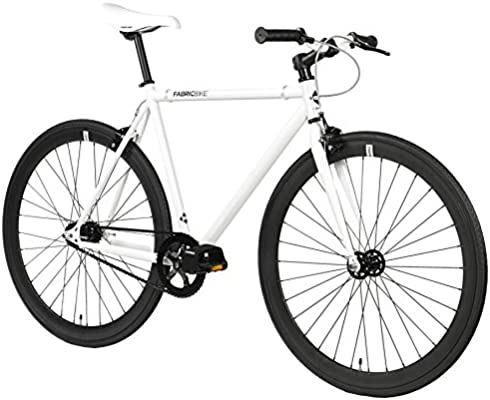 FabricBike- Bicicleta Fixie Blanca, piñon Fijo, Single Speed ...