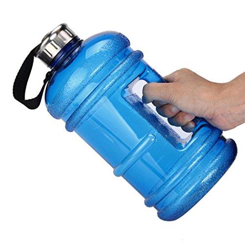 Large BPA Free Sport Gym Training Big Drink Water Bottle Cap Kettle Workout 2.2L