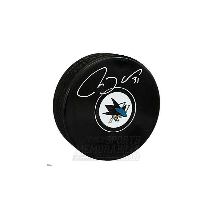 Martin Jones San Jose Sharks Signed Autographed Sharks Hockey Puck